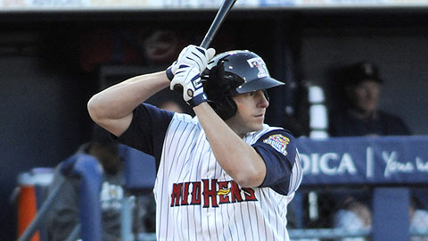 Toledo's Brad Eldred leads the circuit in home runs (eight) and RBIs (25).