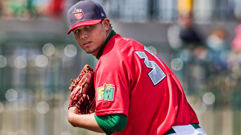 Adys Portillo leads the Midwest League with a 1.48 ERA in 10 starts.