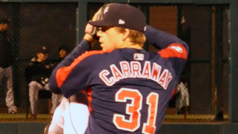 Andrew Carraway is 7-3 with a 3.06 ERA across two levels this season.